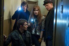 """Jesse Eisenberg, Isla Fisher, Dave Franco y Woody Harrelson en """"Ahora me ves"""" de Louis Leterrier (2013)"""