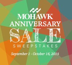 ViralSweep -  Enter today for a chance to win $500, $1,000, or $1,500 in cash prizes from Mohawk Flooring  We'll select three lucky winners on October 19, 2015. Good Luck!