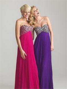 Beading Sweetheart Chiffon 2013 Prom Dresses