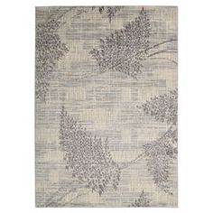 """Add a natural touch to your living room or home library floors with this lovely rug, featuring a leafy, organic motif in a neutral palette.  Product: RugConstruction Material: Polyester and acrylicColor: ChampagneFeatures: Power-loomedPile Height: 0.5"""" Note: Please be aware that actual colors may vary from those shown on your screen. Accent rugs may also not show the entire pattern that the corresponding area rugs have."""