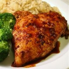 Chicken and Red Wine Sauce. Made this before, used 1/4 cup brown sugar and 1/2 cup of red wine instead. Still delicious