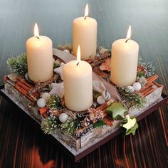 Best Images Kreative Weihnachtsdekoration – DIY Adventskranz Ideen Tips Among the absolute most wonderful and elegant kinds of plants, we carefully picked the corresponding Christmas Advent Wreath, Christmas Flowers, Christmas Candles, All Things Christmas, Winter Christmas, Christmas Time, Christmas Crafts, Advent Wreaths, Advent Candles