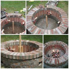 Handyman Magazine DIY Brick Fire Pit - How we did it - Step by step