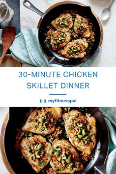 This easy chicken skillet recipe is ready in under 30 minutes.