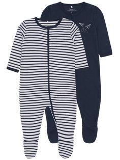 2-pack med pyjamas med blixtlåsstängning  3411e987ba5c3
