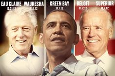 Barack Obama. Joe Biden. Bill Clinton. All coming to Wisconsin this week!   Get the details on how you can see them here: http://ofa.bo/mWrAQw
