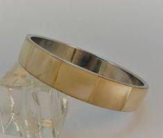 60s Creamy MOP Shell Inlay Silvetone Bracelet Bangle Bracelet