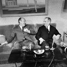 Bourvil and Louis de Funes
