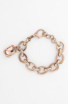Nordstrom Rectangular Stone Charm Chain Bracelet available at #Nordstrom
