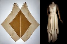 Madeleine Vionnet jabot dress