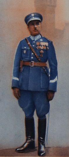Plansza mundurowa - Policja Panstwowa