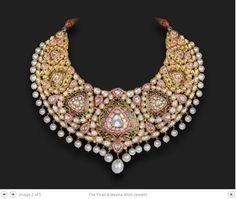 Pink Minakari and Kundan Necklace - Nayaab Jewels Jaipur
