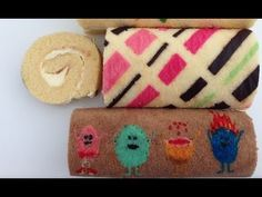 Patterned roll cake recipe and how to make it