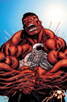 """Avengers: X-sanction Print- Cable Rumbles with the Red Hulk As His Fight to Save the Future Carries On!"""" Avengers: X-sanction Print- Cable Rumbles with the Red Hulk As His Fight to Save the Future Carries On! Marvel Dc Comics, Comics Anime, Hq Marvel, Marvel Heroes, Marvel Movies, Red Hulk Marvel, Marvel Comic Character, Comic Book Characters, Comic Books Art"""