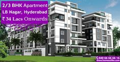 """2bhk, 3bhk flats for sale in LB Nagar, Hyderabad at Blue Bells on Homesulike.com. Size Range: 1135 - 2220 Sq.ft Prize Range: 34Lacs To 66Lacs For more details click on http://www.homesulike.com/index.php/projects/viewdetails/Blue-Bells Call us 040-66666616 for site visit. """"Hit like and share with your friends."""""""