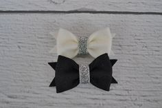 Tuxedo Set of Felt Bow Clips for Women, Girls and Babies