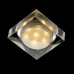 EOS SQ square recessed clear/satinated acrylic LED Our code Square recessed LED light of solid poly-carbonate that is partially satinated and partially clear. Only for use in dry walls.