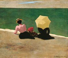 On the Beach -- Felix Vallotton