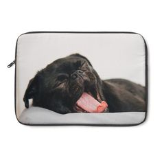 We must admit, there's nothing cuter than a yawning pug. That's why we've designed this adorable laptop sleeve! Not only will it provide your laptop with protec Pug Accessories, Laptop Sleeves, Pugs, Products, Notebook Covers, Pug, Pug Dogs, Beauty Products, Gadget