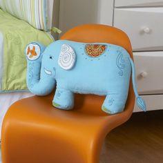 The Little Acorn Funny Friends Elephant Pillow   AllModern