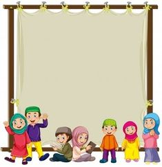 More than 3 millions free vectors, PSD, photos and free icons. Exclusive freebies and all graphic resources that you need for your projects Muslim Sign, Ramadan Images, Selamat Hari Raya, Show Logo, Islamic Cartoon, Anime Muslim, Background Powerpoint, Islam For Kids, Frame Template