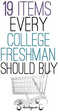 19 Items Every College Freshman Should Buy | Blair Blogs. Super good list! I'll definitely have to keep these in mind! And I love her blog!