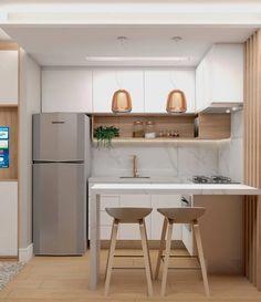 Kitchen Room Design, Modern Kitchen Design, Home Decor Kitchen, Interior Design Kitchen, Kitchen Furniture, New Kitchen, Home Kitchens, Kitchen Ideas For Small House, Kitchen Layout