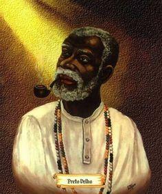Pretos velhos são entidades de umbanda , espíritos que se apresentam em corpo fluídico de velhos africanosque viveram nas senza...