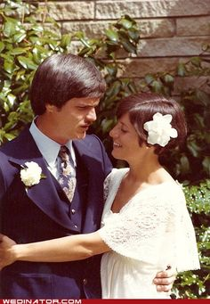 Bride and groom, 1976.