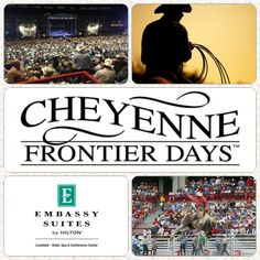 Don't forget to book your hotel rooms for Cheyenne Frontier Days…the Daddy of them all! Call 1-800-362-2779 to make a reservation and purchase your event tickets here: http://purchase.tickets.com/buy/TicketPurchase?orgid=38209&mkt_code=EMBASSY