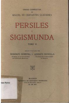 Miguel de Cervantes: Persiles y Sigismunda