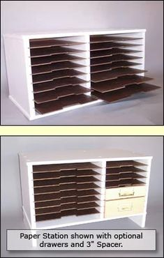 Another good idea for storing paper, especially 12x12, which can be a bit awkward in the UK (where it is a bit less common)