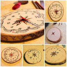 three-hour woodwork including hollowing the back for clock movement fitting and clock face decoration. Ta da! :D DIY wooden clock :)