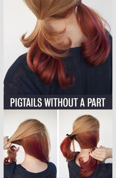 Pigtails without a part.