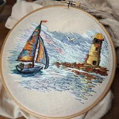 Now, I think it's ready ) ➡details. Diy Embroidery Shirt, Embroidery Hoop Crafts, Hand Embroidery Projects, Embroidery Designs, Hand Embroidery Stitches, Crewel Embroidery, Cross Stitch Embroidery, Machine Embroidery, Thread Art