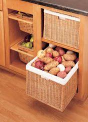 Rev-A-Shelf - Rattan Organizer Basket with Canvas Liner Sink & Base Accessories