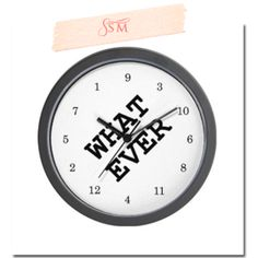 How cool is this clock? Time is relative... sometimes it goes right out the window. Whatever you are doing with your time, add this clock to help you forget exactly what time it is... just don't use it to teach your kids to tell time! Find it for just $18.00 @Michelle Ortiz-Dunbar
