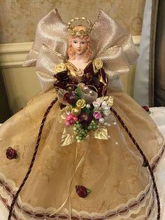 Pretty Dolls, Beautiful Dolls, Christmas Angel Ornaments, Christmas Decorations, All Things Christmas, Christmas Holidays, Angel Crafts, Shabby Chic Crafts, Shabby Chic Christmas