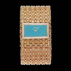 Rose Gold Diamond Cuff-watch G0A38217 - Piaget Luxury Watch Online