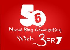 MANUAL 56 Blog Comment Backlinks With 3xPR7 + 3xPR6