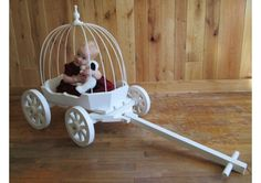 Infant Cinderella carriage for a baby that wants to be part of the wedding. I die. Whose baby can I put in this carriage and pull down the aisle! Wagon For Wedding, Dream Wedding, Wedding Stuff, Wedding Ideas, Wedding Wagons, Wedding Things, Wedding Inspiration, Wedding Sweepstakes, Wedding Giveaways