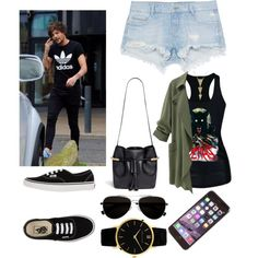 Louis girl (date w/ Louis) by sudachikotarou on Polyvore featuring polyvore, fashion, style, Zara, Vans, Chloé, Larsson & Jennings and Calvin Klein