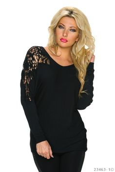 Be Yourself Black Blouse
