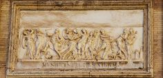 A mural on a wall in the Vatican Museum