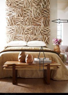Phillips Collection Interesting headboard! I like but maybe better in another color :-)
