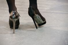 """Glitter soles are the new """"red"""". Lanvin heels."""