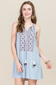 1a38c4676a6 Vinnie Embroidered Shift Dress