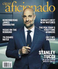 Cigar Aficionado of September/October 2013 with Stanley Tucci | #cigar #cigars