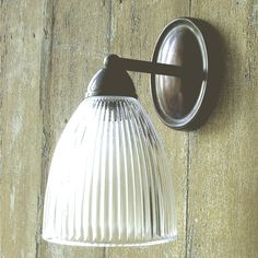 79.50 Antique Bronze Wall Light with Glass Shade
