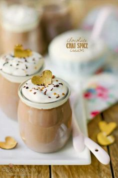 Chocolate chi spiced cream